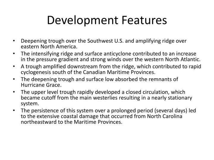 Development Features