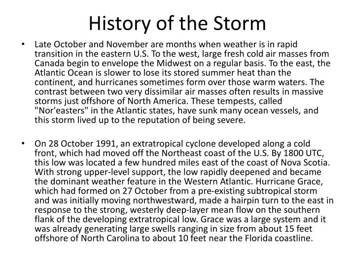 History of the Storm