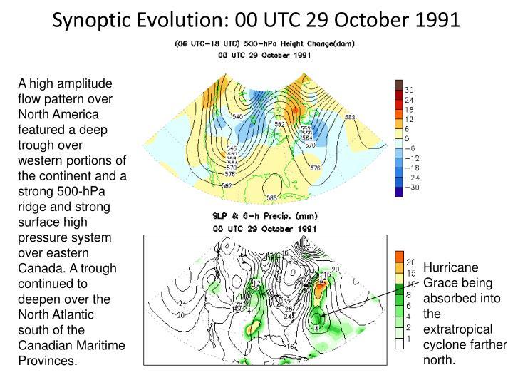 Synoptic Evolution: 00 UTC 29 October 1991