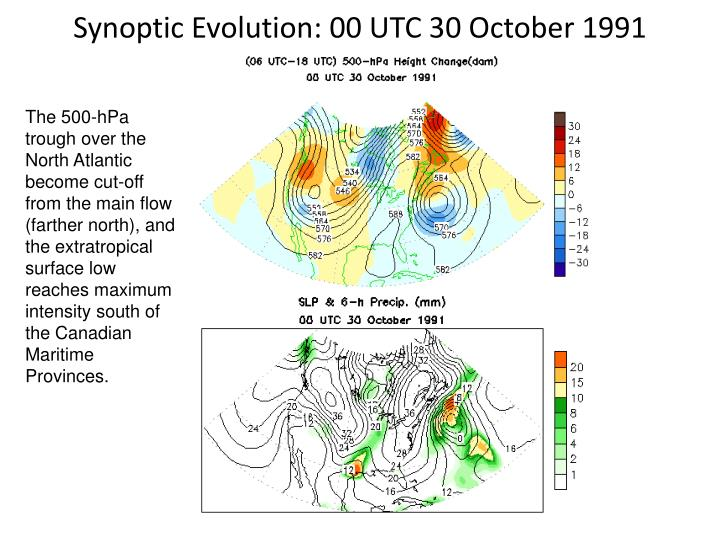 Synoptic Evolution: 00 UTC 30 October 1991