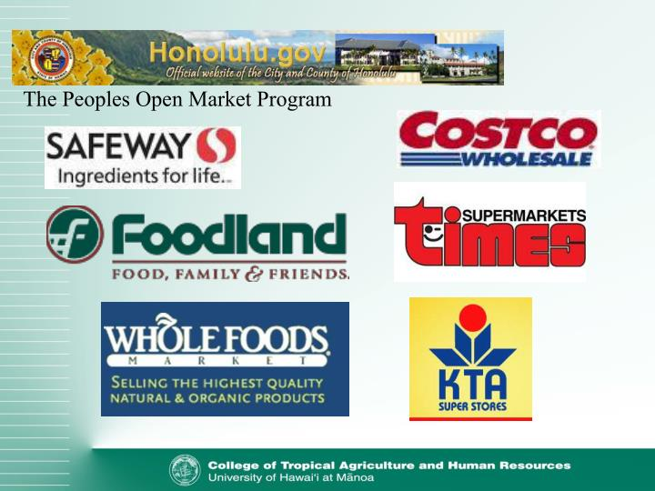 The Peoples Open Market Program