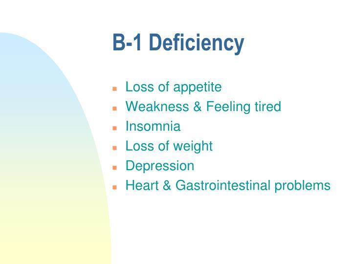 B-1 Deficiency