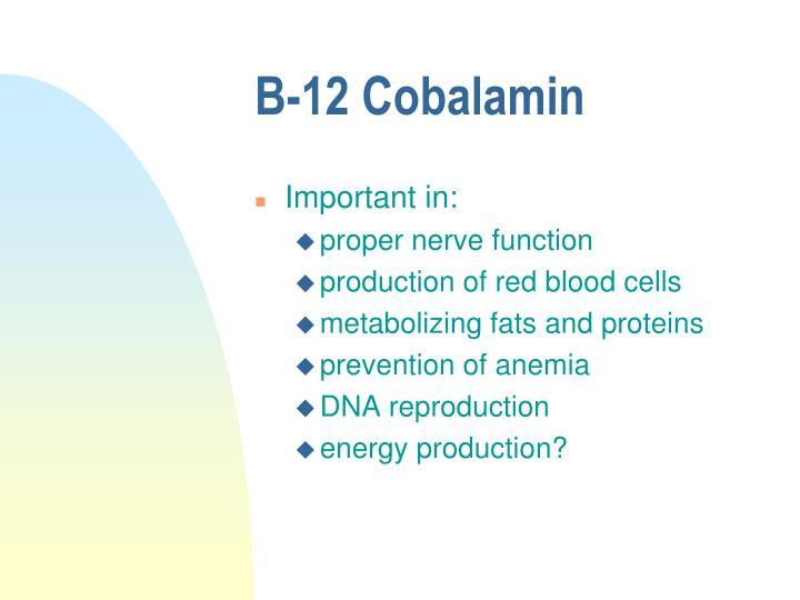 B-12 Cobalamin