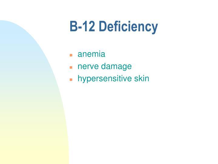 B-12 Deficiency