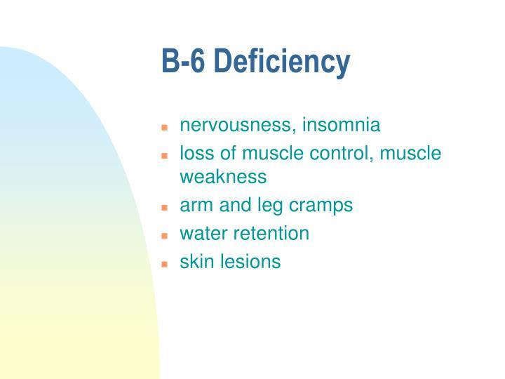 B-6 Deficiency
