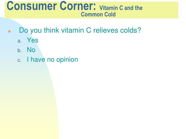 Consumer Corner: