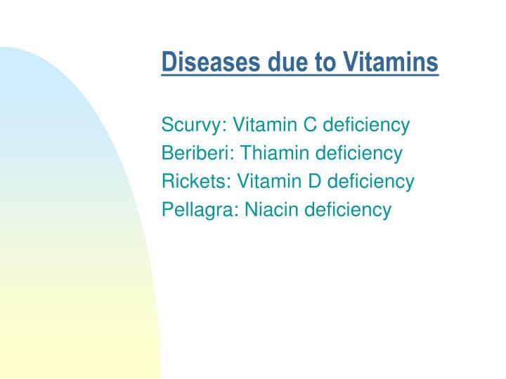 Diseases due to Vitamins