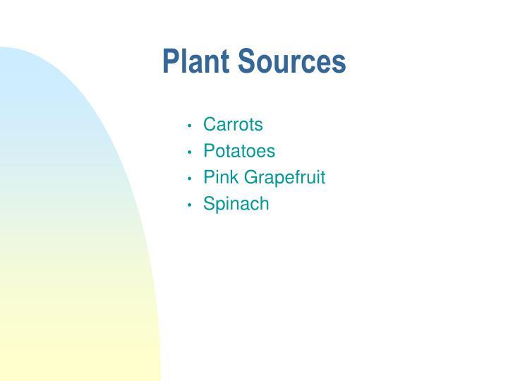 Plant Sources