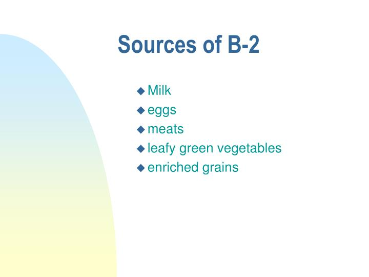 Sources of B-2