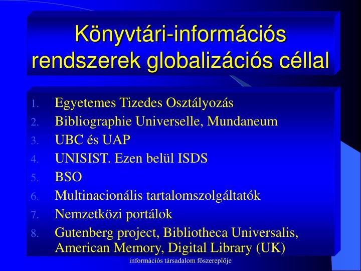 Könyvtári-információs rendszerek