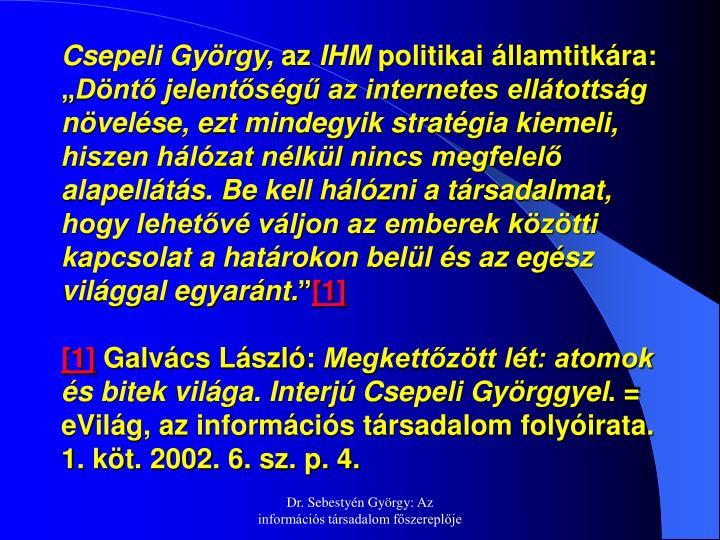 Csepeli György,