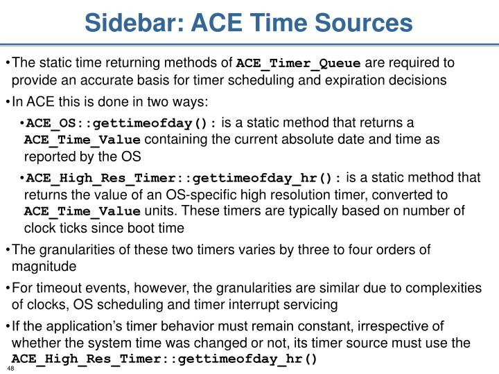 Sidebar: ACE Time Sources