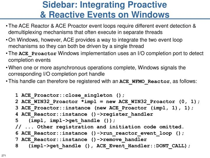 Sidebar: Integrating Proactive