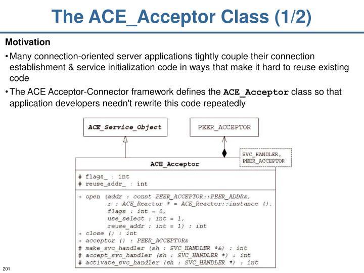 The ACE_Acceptor Class (1/2)