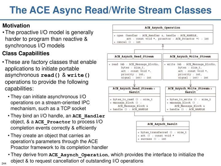 The ACE Async Read/Write Stream Classes