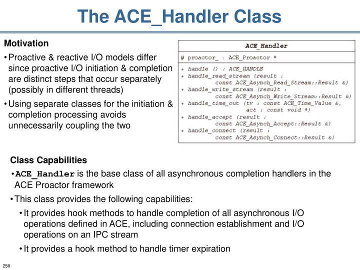 The ACE_Handler Class