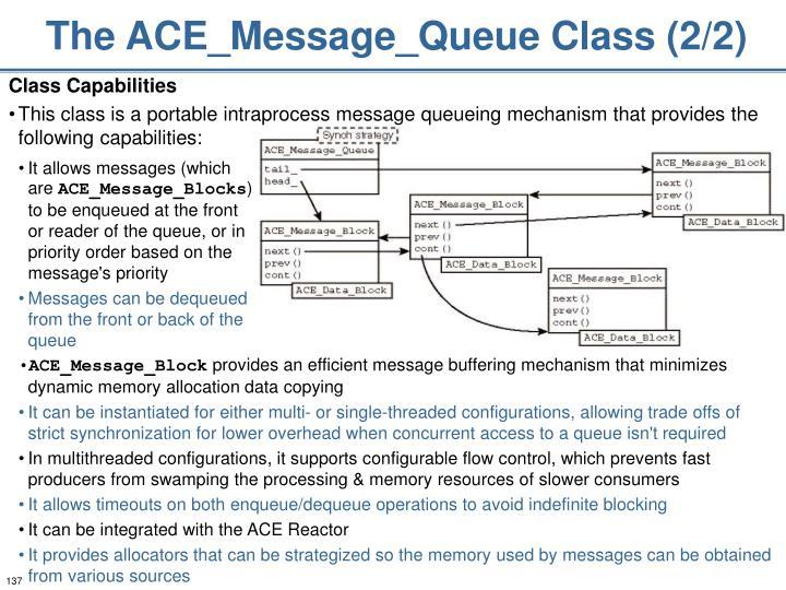 The ACE_Message_Queue Class (2/2)
