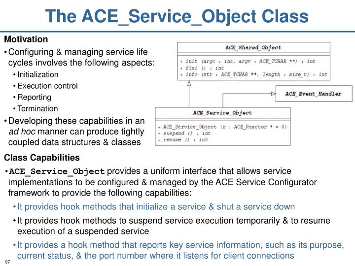 The ACE_Service_Object Class