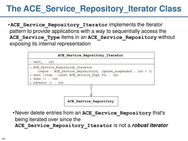 The ACE_Service_Repository_Iterator Class