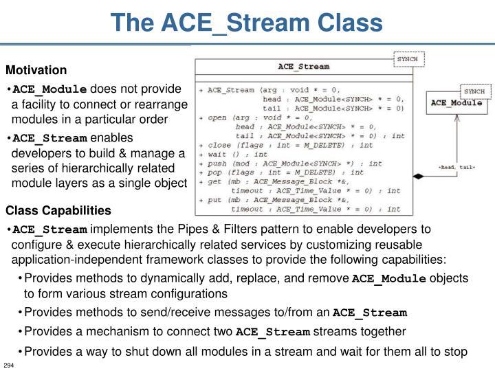 The ACE_Stream Class