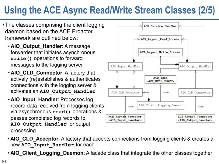 Using the ACE Async Read/Write Stream Classes (2/5)