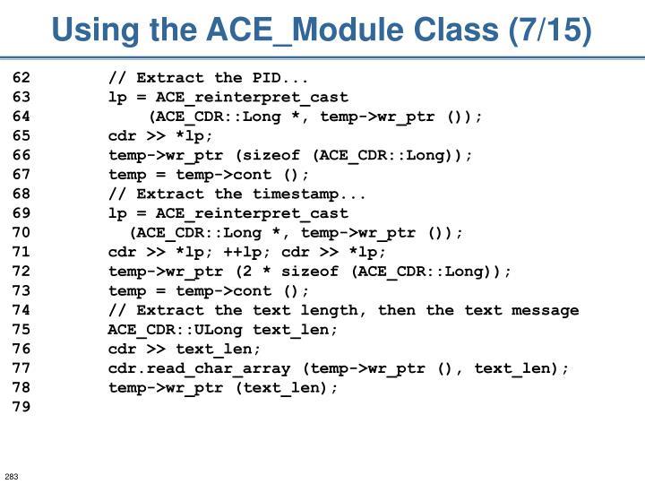 Using the ACE_Module Class (7/15)