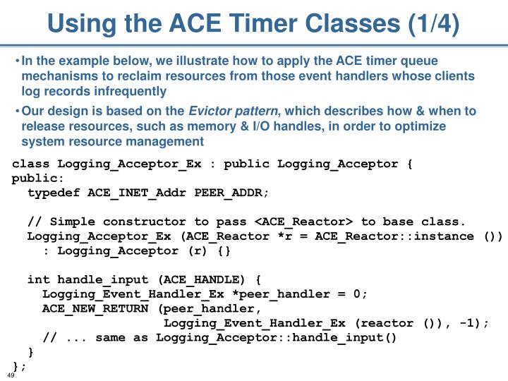 Using the ACE Timer Classes (1/4)