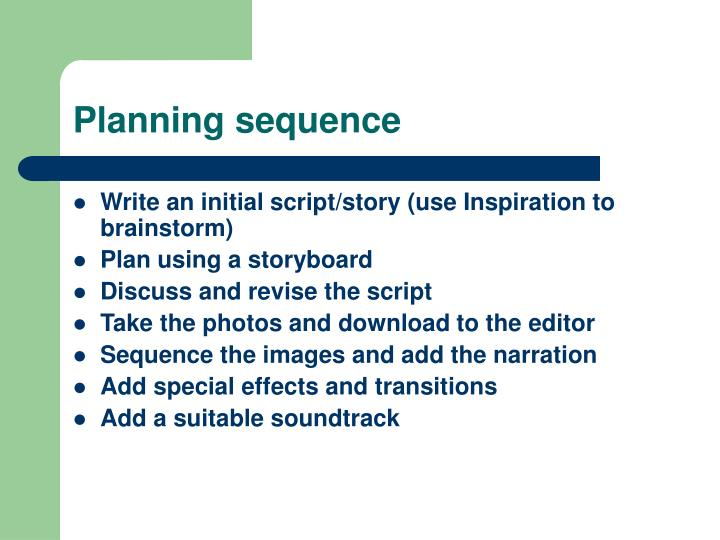 Planning sequence