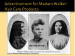 advertisement for madam walker hair care products