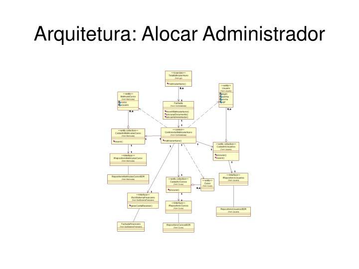 Arquitetura: Alocar Administrador