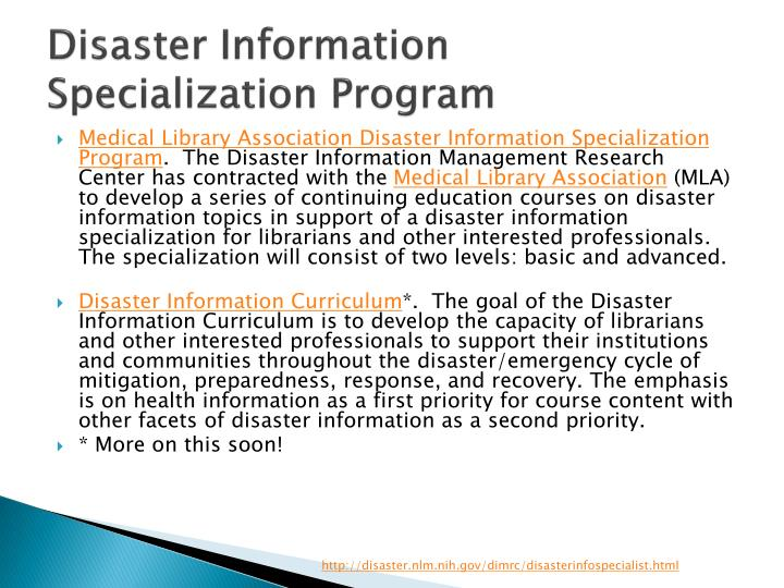 Disaster Information
