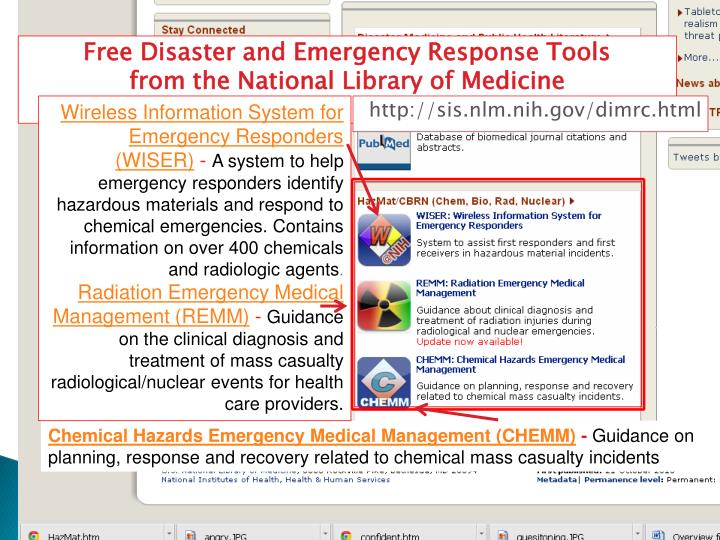 Free Disaster and Emergency Response Tools