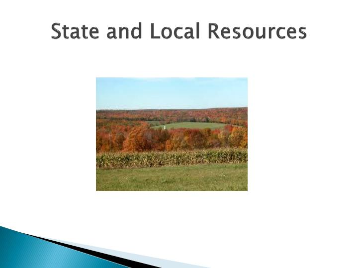 State and Local Resources