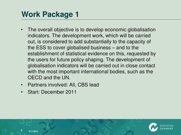 Work Package 1