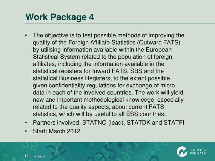 Work Package 4