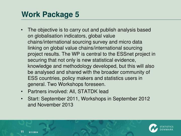 Work Package 5