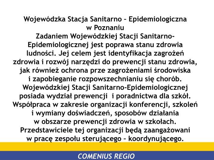 Wojewódzka Stacja Sanitarno – Epidemiologiczna