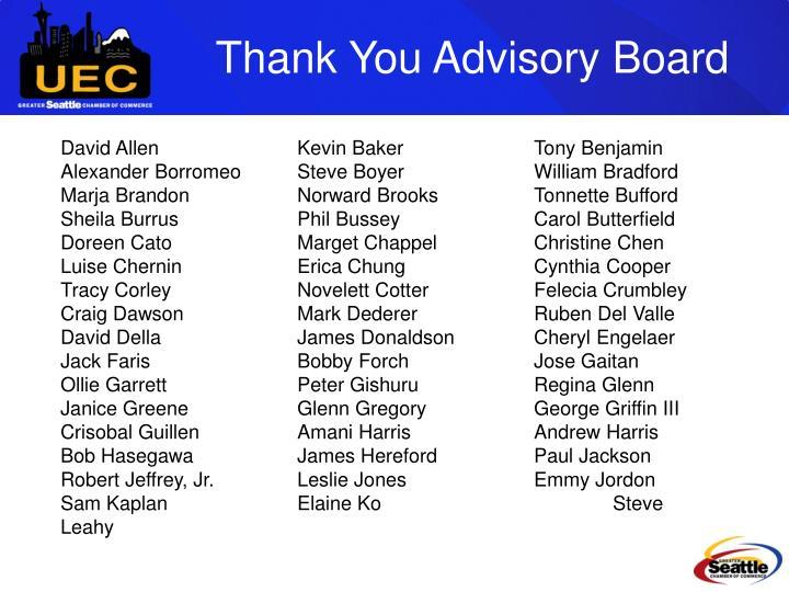 Thank You Advisory Board