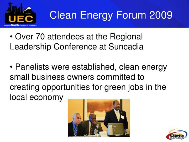 Clean Energy Forum 2009