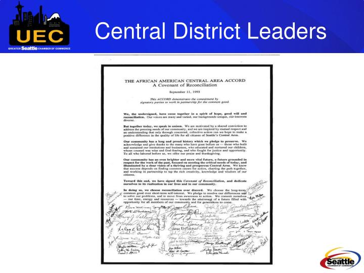 Central District Leaders