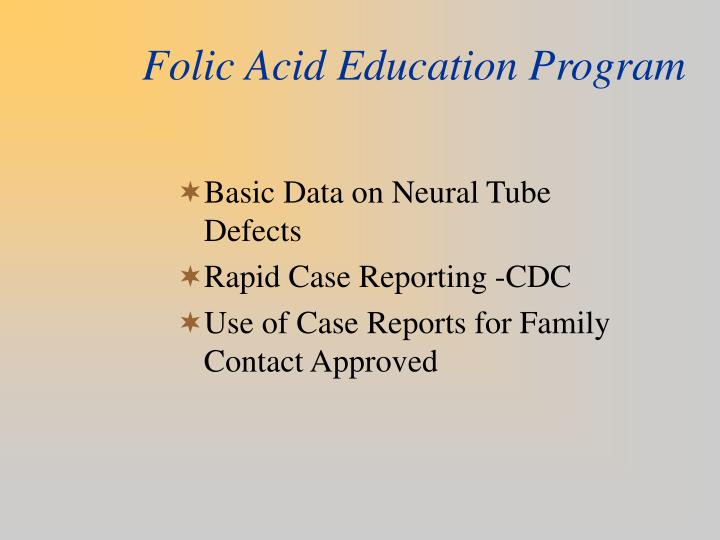 Folic Acid Education Program