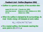feedback limit outflow begelman 2004