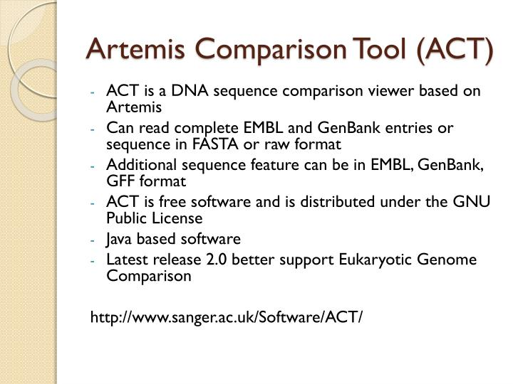 Artemis Comparison Tool (ACT)