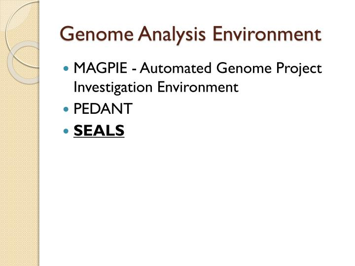 Genome Analysis Environment