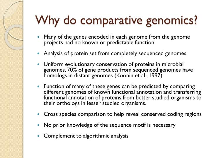 Why do comparative genomics?