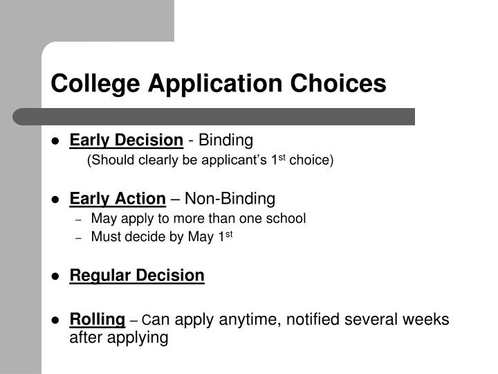 College Application Choices