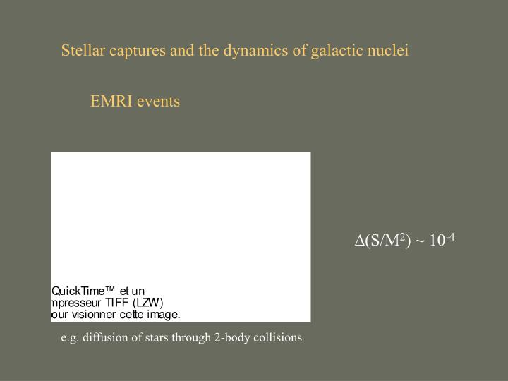 Stellar captures and the dynamics of galactic nuclei