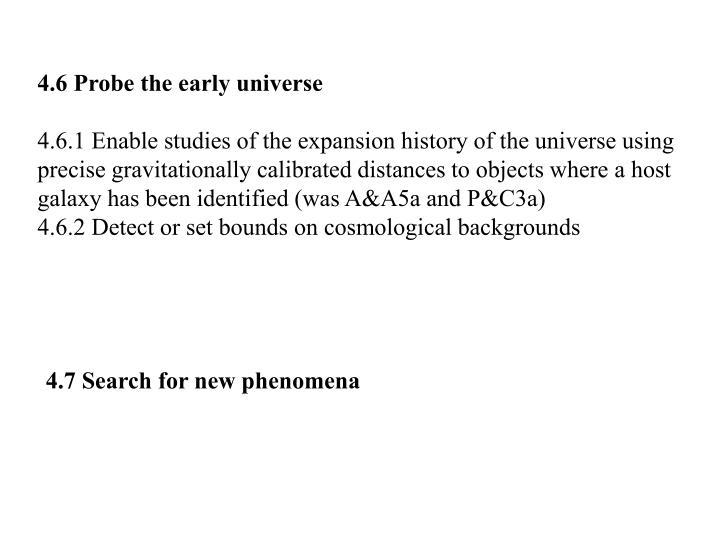 4.6 Probe the early universe