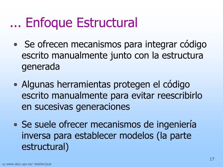 ... Enfoque Estructural