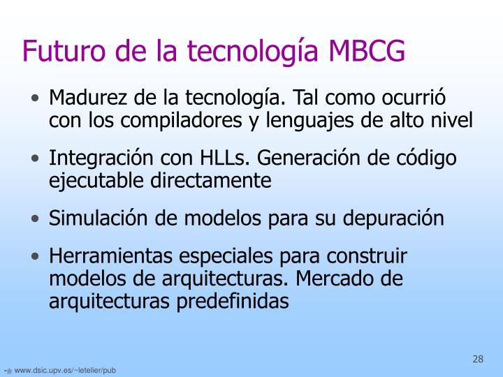 Futuro de la tecnología MBCG